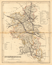 BUCKINGHAMSHIRE county map. ARCHER & DUGDALE. Seats canals polling places 1845